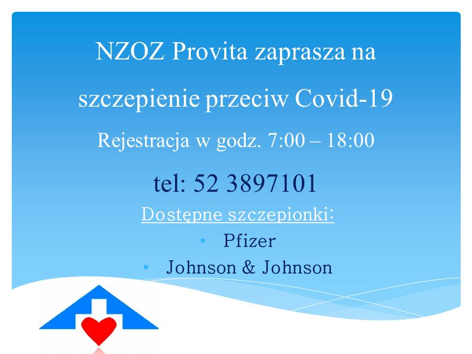 NZOZ Provita rejestruje na szczepienie przeciw Covid-19 2